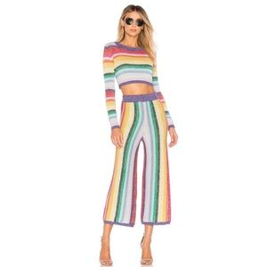 SALE Lovers + Friends Believe Rainbow Knit Pants